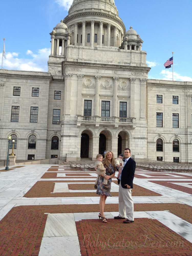 At the RI State House celebrating Jackson's cord blood match