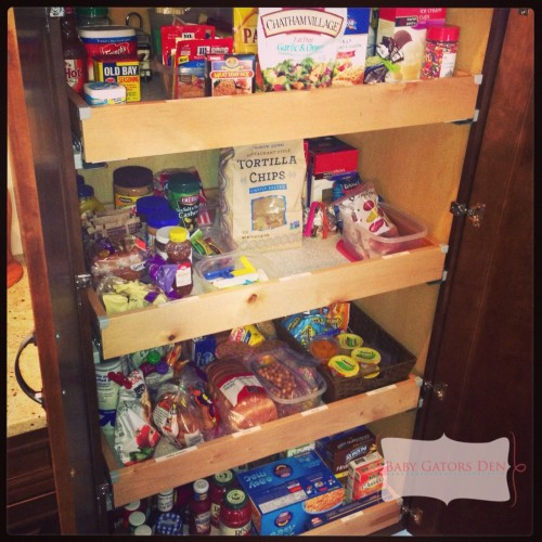 Organized & labeled our pantry to save time while cooking.