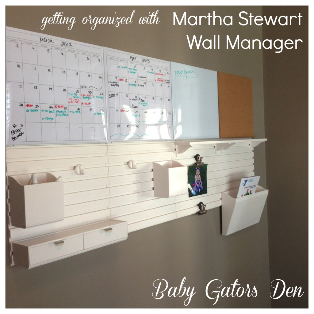 Get Organized With Martha Stewart S Wall Manager